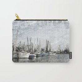 Pass Christian Harbor Sketch Photo Carry-All Pouch