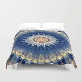 Mandala blue created by Tutti Duvet Cover