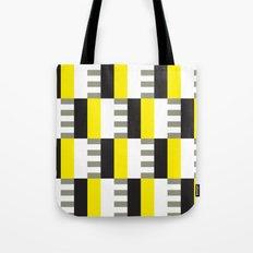 Yellow & black modernist pattern Tote Bag