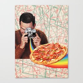 pizza obsession Canvas Print