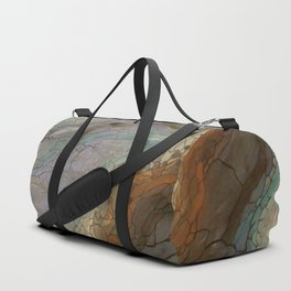 Butterfly River (Acrylic Abstract Asymmetrical Circle Painting) Duffle Bag