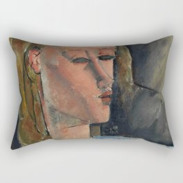 "Amedeo Modigliani ""Beatrice Hastings"", 1916 Rectangular Pillow"