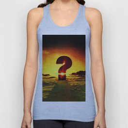 Vintage 1970's Question Mark With Sunset Unisex Tank Top