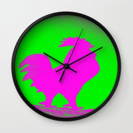 Giant Rooster 2 Wall Clock