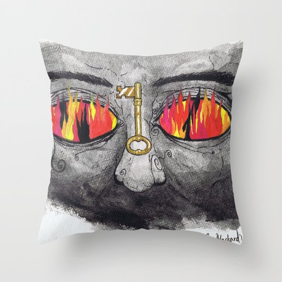 """""""The People's Key"""" by Cap Blackard Throw Pillow"""