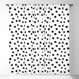 Polka Dots Black and White Blackout Curtain