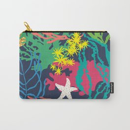 Coral Reef in Navy Carry-All Pouch