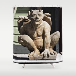 Porch Guardian Shower Curtain