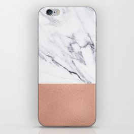 Marble Rose Gold Luxury iPhone Case and Throw Pillow Design iPhone Skin