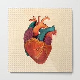 Anatomical Human Heart - Textbook Color Metal Print