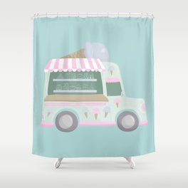 Ice Cream Truck Shower Curtain