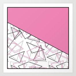 Abstract pink combo pattern . Art Print