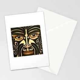 Maori warrior Stationery Cards