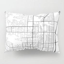 Scottsdale Map, Arizona USA - Black & White Portrait Pillow Sham