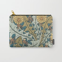 Art Nouveau Dandelion Pattern Carry-All Pouch