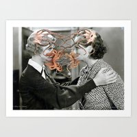 Fusional Love creation by FrenchCollage Art Print