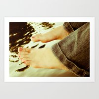 feet Art Prints featuring Feet by Upperleft Studios