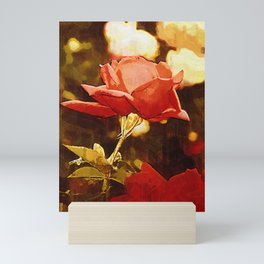 Single Rose Bloom In Gothic Mini Art Print