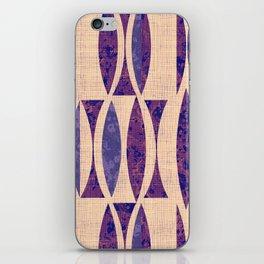 Seventies violet Pattern iPhone Skin