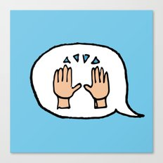 Hand-drawn Emoji - Hands Raised Up In Cheer Canvas Print