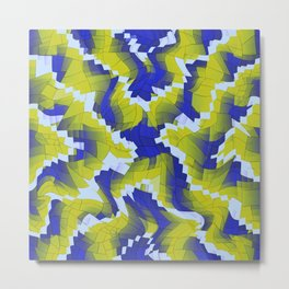 Blue And Green splinter Metal Print