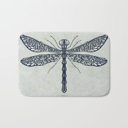 Dragonfly illustration Bath Mat