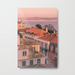 Lisbon Rooftops Metal Print