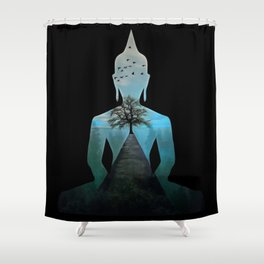 Nature Makes Me Calm Like The Buddha Shower Curtain