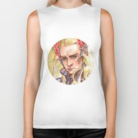 thranduil Biker Tanks featuring Thranduil by Giulia Colombo