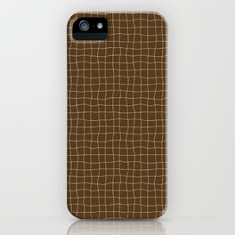 Cheesecloth - Chocolate-Cream iPhone Case