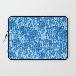 Cascading Wisteria in Blue Laptop Sleeve