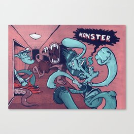 Monster in the Hall Canvas Print