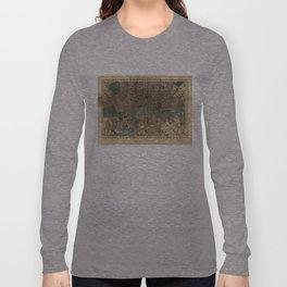 Vintage Map of London England (1860) Long Sleeve T-shirt