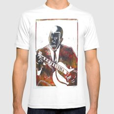 Muddy Waters 2/3 White SMALL Mens Fitted Tee