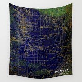 Pasadena mid century map, us map, usa old map Wall Tapestry