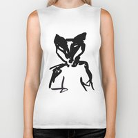 badger Biker Tanks featuring Badger by SarahEllenBurns
