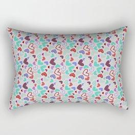 Heart and colors Rectangular Pillow
