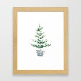 Christmas fir tree Framed Art Print