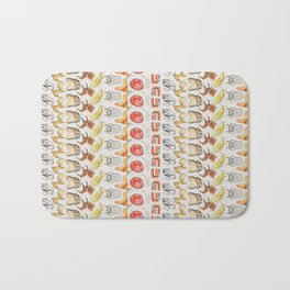 Post Modern Watercolor Chairs Bath Mat
