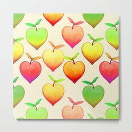 Peach Love Metal Print