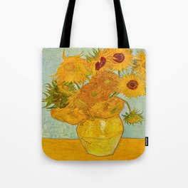 Sunflowers Oil Painting By Vincent van Gogh Tote Bag