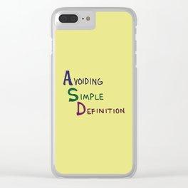 ASD Acronym Clear iPhone Case