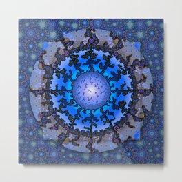 Blue Violet Thangka Metal Print
