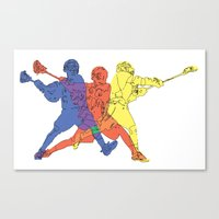 lacrosse Canvas Prints featuring Lacrosse by preview