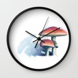 Fly Agaric Wall Clock