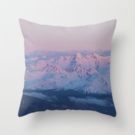 Perfect sunrise in South Tyrol - Landscape and Nature Photography Throw Pillow