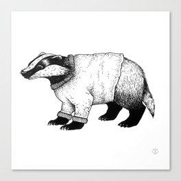 Winter Badger Canvas Print