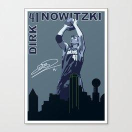 Dirk Over Dallas Canvas Print