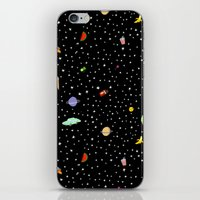 outer space iPhone & iPod Skins featuring OUTER SPACE by DRAWDEALER