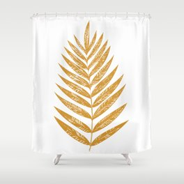 Golden Fern Shower Curtain